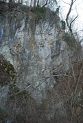 Rock Climbing Photo: View of the crag from the canal