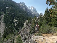 Rock Climbing Photo: heading up to the grand Teton .