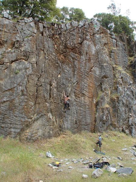 Rock Climbing Photo: Pretty fun route. Dirty the higher you get.