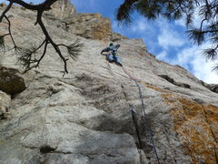 Rock Climbing Photo: Just below the first pitch crux.