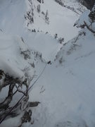 Rock Climbing Photo: looking down from the first belay on the right var...