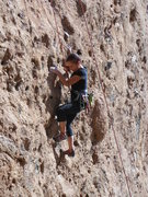 "Rock Climbing Photo: Enjoying the pockets of ""Urban Cowboy"" o..."
