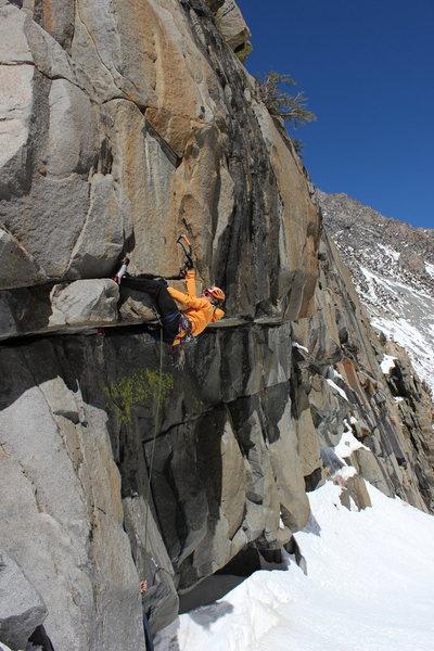 Luke Lydiard climbing Jango Fett.