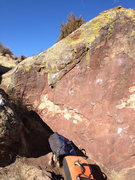 Rock Climbing Photo: Suburban Skyline is up the left arete. Thin Face, ...