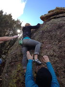 Rock Climbing Photo: About to top out....