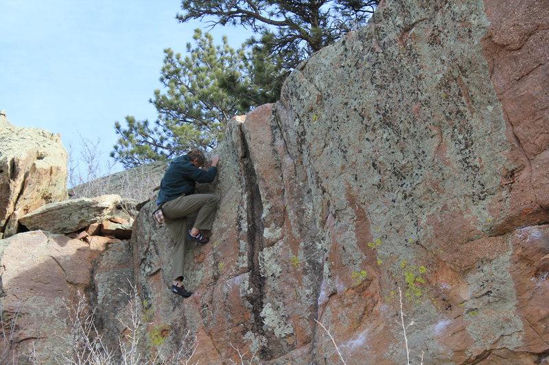 Rock Climbing Photo: Easy Face.