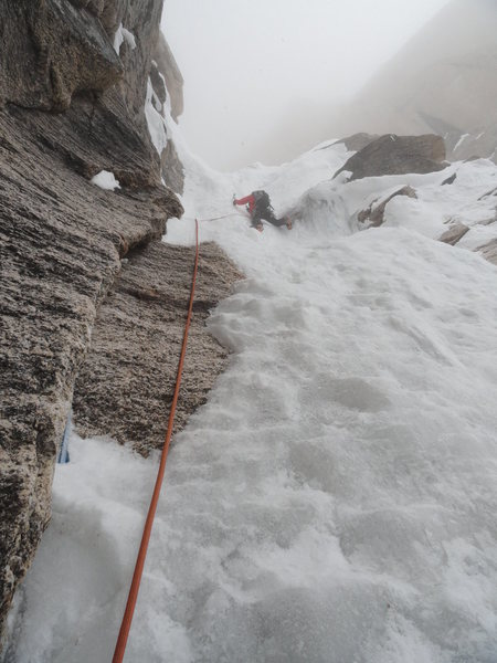 Rock Climbing Photo: Crux Ice pitch H&E