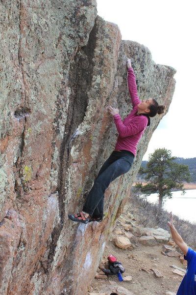 Rock Climbing Photo: Sheyna making it look easy....