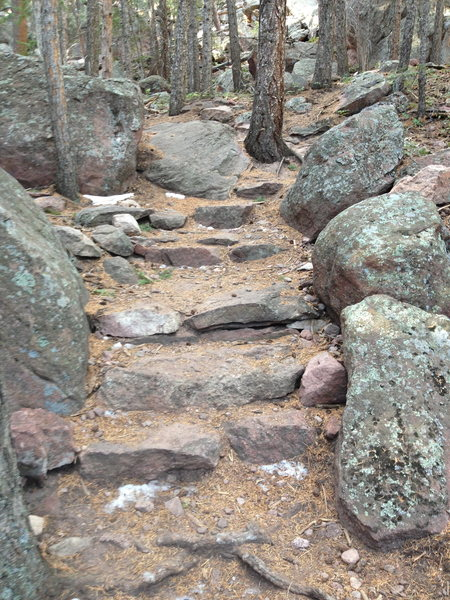 The first stairs I worked on a few years ago...  Third Flatiron Trail