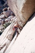 Rock Climbing Photo: Kevin Worrall climbing Hyperion.  Photo by Rick Ac...