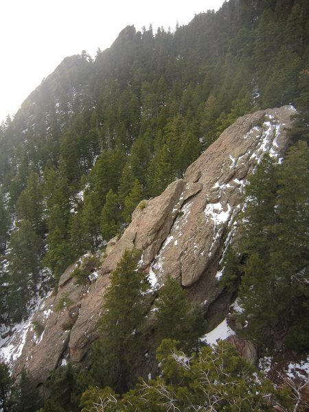 Rock Climbing Photo: The crag Damascus as seen from the South end of Th...