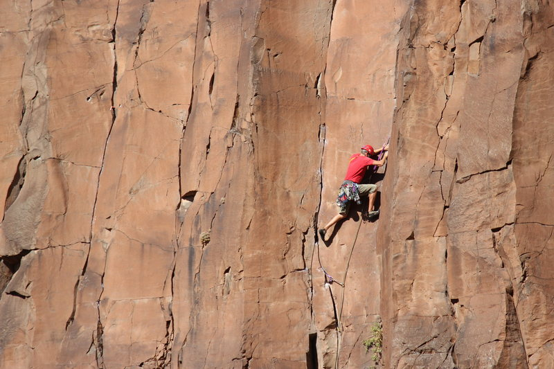 Rock Climbing Photo: switching cracks on spite and malice