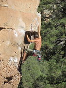 Rock Climbing Photo: getting to first crux