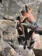 Rock Climbing Photo: getting to the chains on pshark