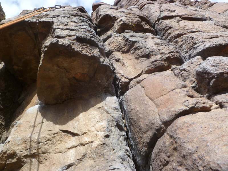 Rock Climbing Photo: About 3/4s of the way up looking at the Pee on Dee...