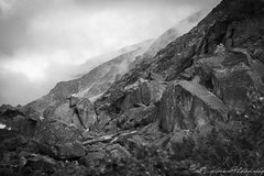 Rock Climbing Photo: Upper talus field.  This is a smaller but more con...