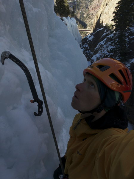 Rock Climbing Photo: Self Portrait, Ouray Ice Park.