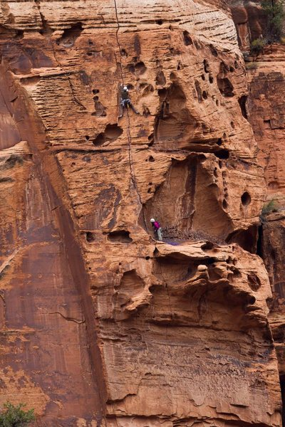 Rock Climbing Photo: Matt and I on the second pitch