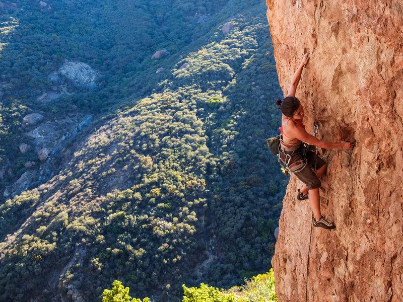 Rock Climbing Photo: Narinda sends