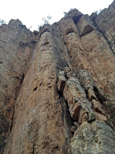 Rock Climbing Photo: Miller Time, 5.11a/b.