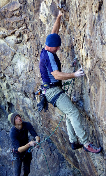 """Rock Climbing Photo: FA of """"What's New Jack"""""""