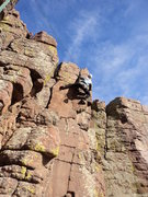 Rock Climbing Photo: George gives it a go.  If you lead this, you can g...