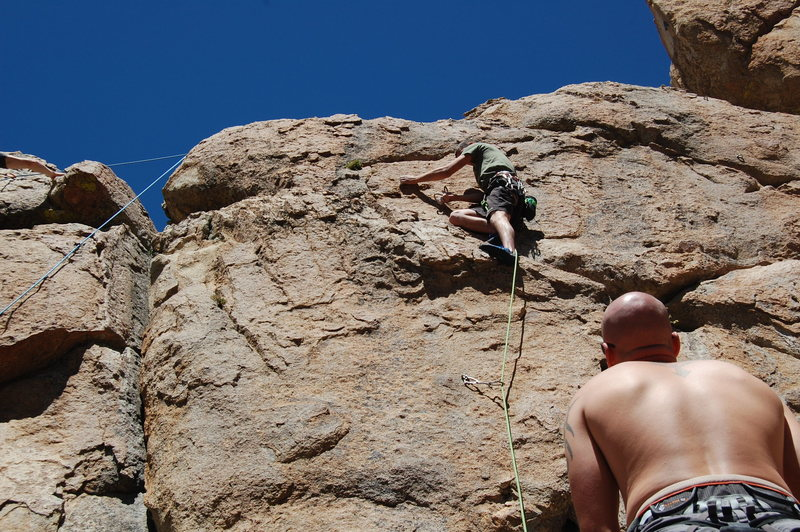 Rock Climbing Photo: Ben's first lead on a 5.9