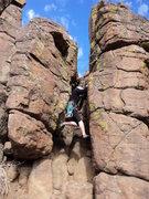 Rock Climbing Photo: Sierra gets back into climbing.