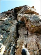 Rock Climbing Photo: This route was over way to soon...loved it. (Iphon...