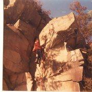 Rock Climbing Photo: Traversing the tourist rocks wall - just because.