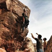 Rock Climbing Photo: Ray on Vino Rojo