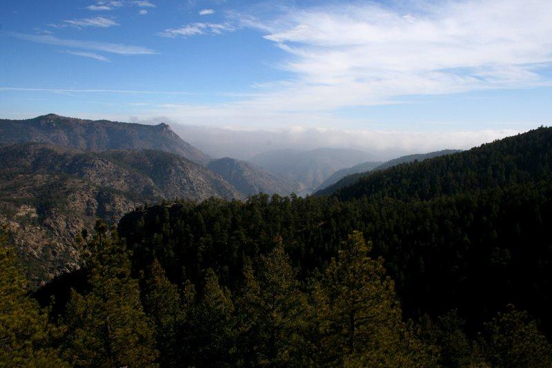 Rock Climbing Photo: View of area around peak.
