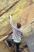 Rock Climbing Photo: First throw before matching on the above slot and ...