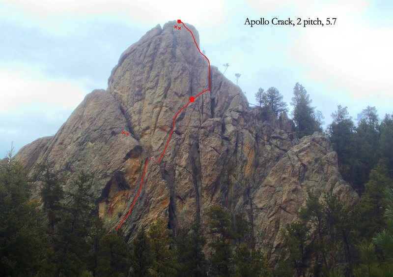 Rock Climbing Photo: As seen from hairpin turn in trail