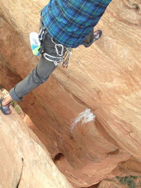Rock Climbing Photo: The stepover