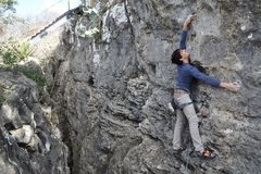 Rock Climbing Photo: Tall beta on Green Slime vs. Bag Of Devouring. Rea...