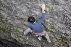 Rock Climbing Photo: This hold will work for clipping on Green Slime vs...