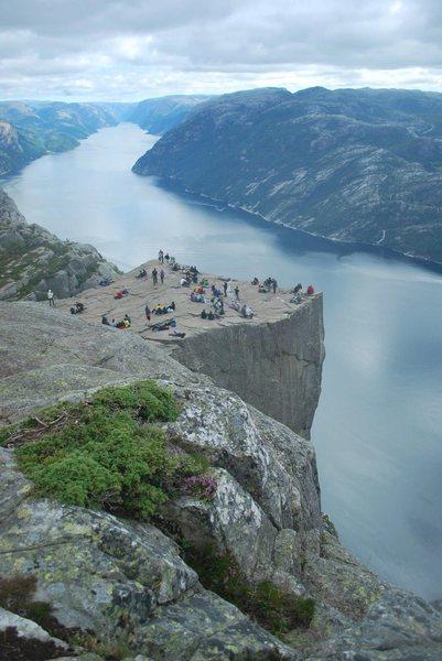 Rock Climbing Photo: Prekestolen and Lysefjorden