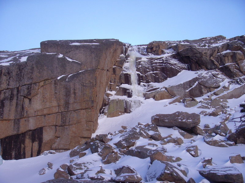 "Rock Climbing Photo: More pictures of the ""new"" ice next to t..."