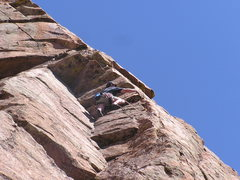 Rock Climbing Photo: An awesome 180' arete in the Wet Mtns.