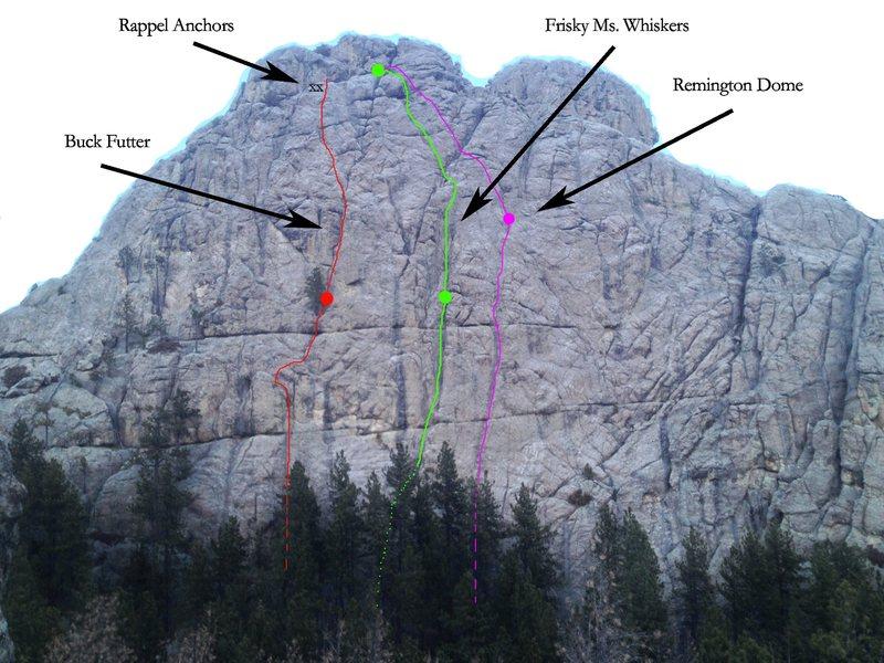 Rock Climbing Photo: Remington Dome routes
