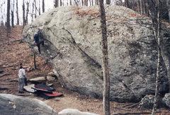 Rock Climbing Photo: Classic boulder at Blowing Rock, North Carolina