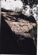Rock Climbing Photo: Legacy on Endless Wall, New River Gorge in 2001