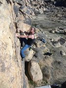 Rock Climbing Photo: Classic boulder at Horsemans