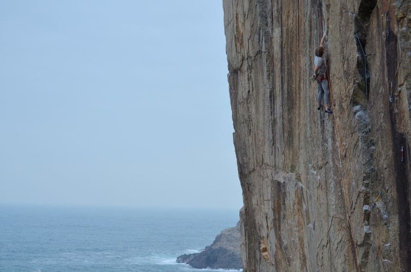 Rock Climbing Photo: Post crux