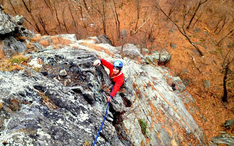 Rock Climbing Photo: Don't mind a bit of choss. Teardrop Buttress, 5.3,...