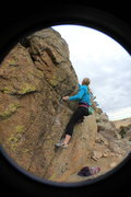 Rock Climbing Photo: Headed up the Black Dike.