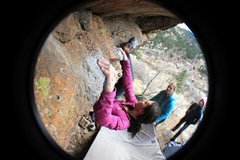 Rock Climbing Photo: Traversing....