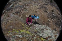 Rock Climbing Photo: Enjoying the easy top-out.
