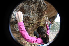 Rock Climbing Photo: Fish-eye fun.